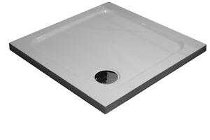 Slimline 35mm 900x900 DIAMOND Stone Shower Enclosure Tray Square Free Waste