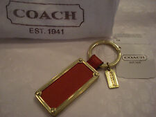 RARE AND HARD-TO-FIND - COACH LEATHER CHILI RING KEY CHAIN FOB  - F61927
