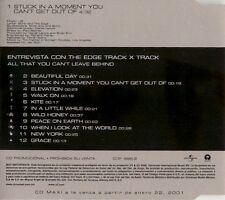 """U2 RARE PROMO MEXICO """" STUCK IN A MOMENT """" MINT 698-2 12 TRACCE NUOVO"""