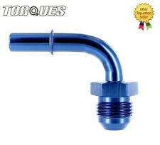 """AN -6 (-6AN JIC -06) 90 Degree Quick Connect 5/16"""" Male Fuel Line / Rail Adapter"""