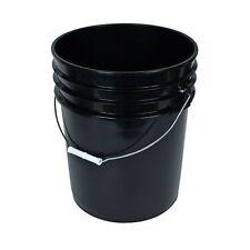 Black 5 Gallon Bucket w/ Handle Brand New  Plastic