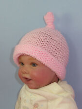 PRINTED INSTRUCTIONS - BABY SIMPLE GARTER STITCH TOPKNOT BEANIE KNITTING PATTERN