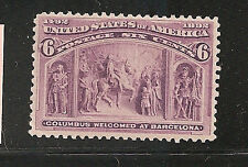 USA  #235  F-VF-NH   SC. Value $160.00