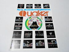 VINTAGE CATALOG #2303 - 1977 QUAKER GLITTER T-SHIRT TRANSFERS - ROCK N ROLL KISS
