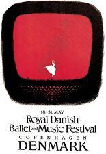 POSTER Artistico Balletto Music Festival Danza Danimarca Print