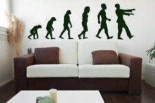 Evolution - Zombie - Large Wall Stickers, Wall Decals. Many colours. New.