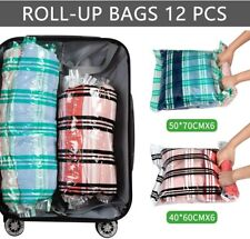 Storage Master 12 Compression Bags Travel Space Saver Bags for Clothes Roll-Up B