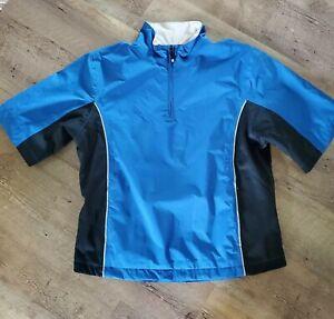 FJ Footjoy DRYJOYS Women's Size M Short Sleeve Half Zip Waterproof Lined Jacket