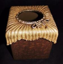 Jay Strongwater Kleenex Tissue Box Cover Holder Brown DragonFly Swarovski Jewels