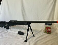 UTG Shadow Ops MK96 Bolt Action Spring Airsoft Sniper Rifle (Black) with bbs