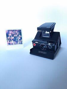POLAROID SX 70 MODEL 3 INSTANT LAND CAMERA / Black - Black / Sofortbild Kamera