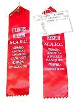 1968 MARC Model A Restorer Auto Car Club Chicago Banquet Ribbons Ticket Show Ofr