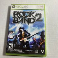 Brand New & Sealed Rock Band 2 Microsoft Xbox 360 - Free Shipping