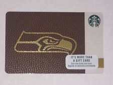 2017 Starbucks SEATTLE SEAHAWKS Gift Card Limited Edn w/ NFL Hologram - New Mint