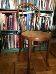 1920s Thonet Bentwood Model 18 Vienna Cafe Bistro Chair Cane Label Signed MCM
