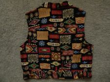 "Vintage Desert West by Sherry Holt: waistcoat. Size M (34"" - 36"")"