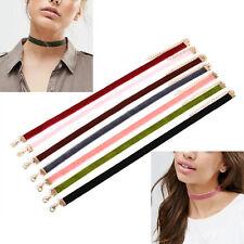 7PCS Colorful Velvet Choker Collar Necklace Gothic Punk Handmade Jewelry Set
