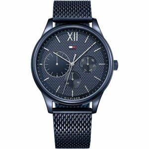 Tommy Hilfiger Mens Blue Stainless Steel Watch 1791421 RRP £175