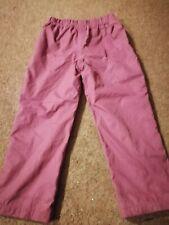 Girls Waterproof Muddy Puddle Trousers Dark Pink Age 4-5😍