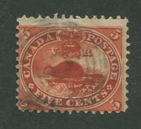 """CANADA #15c USED 4-RING NUMERAL CANCEL """"7"""""""