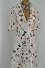 ~ LINDY BOP ~ Rare ' Baby' Print Shirt Dress Sold Out Size 22 24 Nanny New Mum
