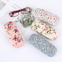 Fabrics Floral Sunglasses Case Reading Spectacle Box Portable Hard Eyeglass Case