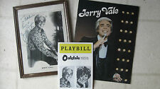 Jerry Vale 1970's Autographed Photo/Tour Program/Playbill Minty Italiano