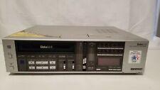 Sanyo Vcr 7200 Betacord Betamax Hi-Fi Video Cassette Recorder Silver Beta Works!
