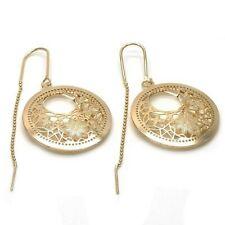 New 9 CT Gold Filled Polish Filigree Design Threader  Earrings   B334