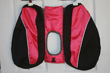 Dog Back Pack Saddle Bag Pink & Black Hiking Camping **Pack Only-No Harness**