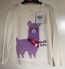 BNWT TU Girls Cream Llama Patterned Long Sleeved Top. Age 3-4 Years
