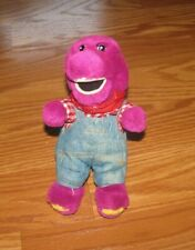 "Barney Soft Plush Purple Dinosaur Stuffed Animal 8"" Tall toy"