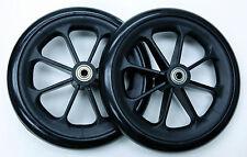 "Medline Excel 2000 Wheelchair Parts 8"" Front Caster Wheel C81B-SP8 2 pcs NEW"