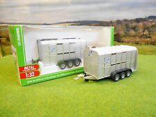 SIKU FARM IFOR WILLIAMS THREE AXLE LIVESTOCK TRAILER 2890 1/32 *BOXED & NEW*