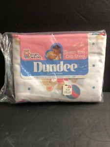 "Vtg Dundee Coordinates Crib Teddy Bears N' Bows 28"" X 52"" Baby"