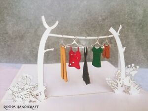 Greeting Washing line 3D popup card Birthday,Anniversary,Wedding,Any Occasion