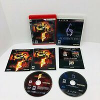 Resident Evil 5 Resident Evil 6 Sony PS3 Video Games Lot With Mini Hint Book