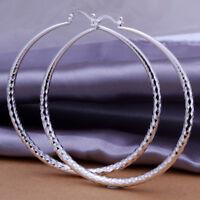 ASAMO Damen Creolen Ohrringe 925 Sterling Silber plattiert Ohrschmuck O1290