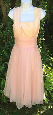 Vintage 50's Peach Pink Women's Party Dress by Lorrie Deb SF Size 11