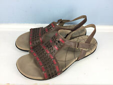 Sanita Brown Red Perforated Leather 39 8.5 9 Excellent Worn Once