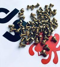 Fits Spyderco Yojimbo 2 Custom Brass Replacement Scale Screws • 6x Screws