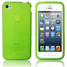 Apple iPhone 5 / 5S Hülle Schutz Etui Back Case Cover Glow / Grün