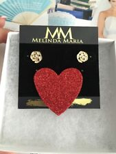 Plated with Crystal 100% Authentic New Melinda Maria earrings Stud 14k Gold