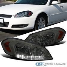 For Chevy 06 13 Impala 06 07 Monte Carlo Led Strip Smoke Lens Tinted Headlights Fits 2006 Impala