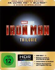 IRON MAN TRILOGY 4K ULTRA HD STEELBOOK blu-ray Region free New Sealed