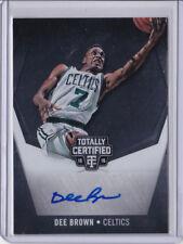 Dee Brown Auto #25/49 - Boston Celtics - 2015-16 Panini Totally Certified