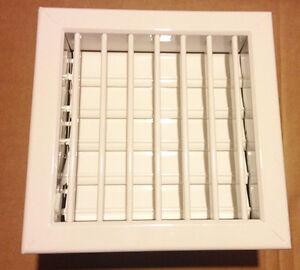 Bocchetta ventilazione camini alluminio bianco  LA VENTILAZIONE cm.18x18 imb.14