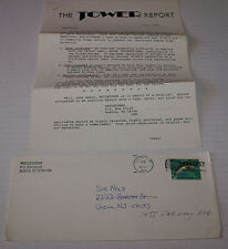 Watchtower Rare The Tower Report Fan Club Letter Signed By Doug Keyser July 1990