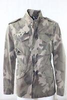 Giubbino Uomo BOB Company Militare Camouflage Cotone Beige Italy Tasche NUOVA