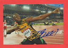 Orig.Autogramm  USAIN BOLT (Jamaica) - 6 Olympische Goldmedaillen  !!  RARITÄT